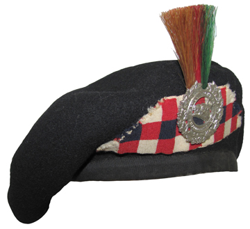 A fine example of the finished product. With the advent of the Second World War there was little opportunity to wear the beret with both the patch and the flash. Beret courtesy the Hastings and Prince Edward Regiment museum.