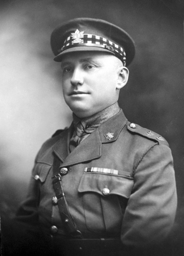 Lieutenant L.F.Green wearing the diced band on his Service Dress cap. Permission for variance this was not forthcoming and the ALI was advised to cease this practice. The photo is that much more interesting as Lt Green wears the cap badge of the 2nd Battalion, CEF, which was raised in large part by the ALI, now perpetuated by the Hastings and Prince Edward Regiment. Photo courtesy the Hastings and Prince Edward Regiment museum.