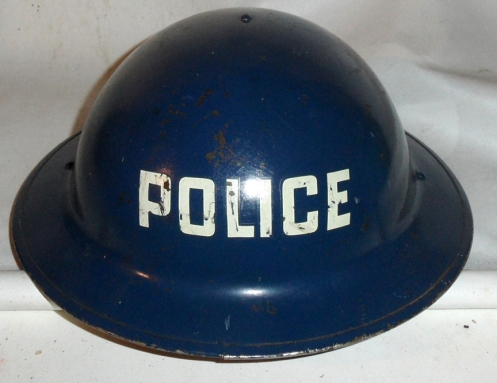 MKII Helmet manufactured  by CLC, dated 1941 and clearly marked POLICE.
