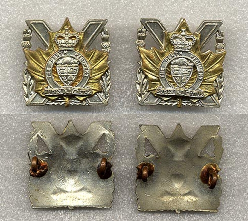 1959 Pattern Collar badges. Not maker marked but Scully made