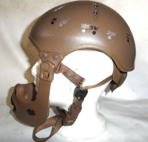 A prototype of the impact liner for the new Canadian Combat Vehicle Modular Helmet