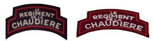 Left, Bill Alexander collection - Canvas 'Repro'. Author's collection – Embroidered 'Repro' of Type 4.