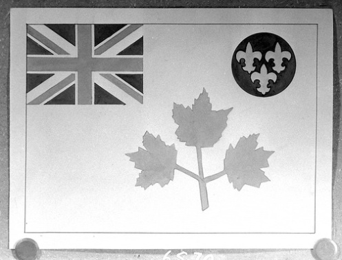 Colonel Duguid's original drawing, submitted in the 1930's as the Canadian national flag to replace the Union