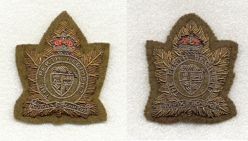 These embroidered badges were primarily for wear on berets.