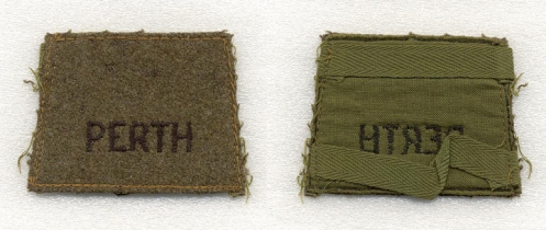 Details of the winter battledress slip- on titles