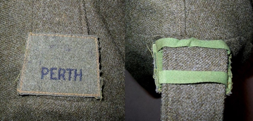 Positioning and method of attaching Slip-On titles onto battledress