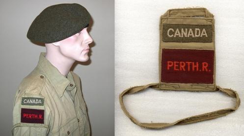 PERTH R brassard worn on bushjacket Details of original brassard