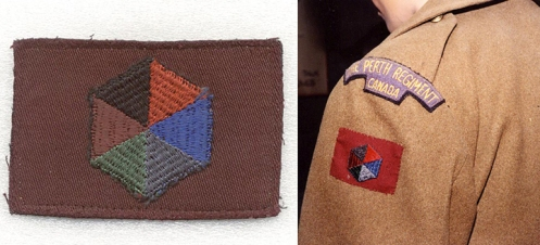 The CAPF patch worn on a greatcoat. A total of 73 Perths joined the CAPF