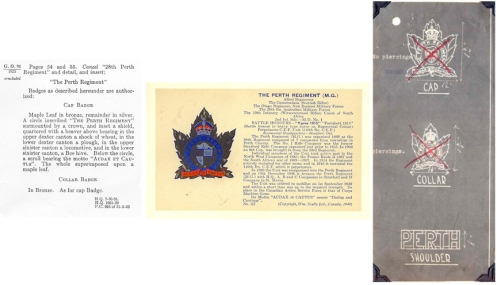 Original badge line drawings and a souvenir post card, both by W Scully ltd.