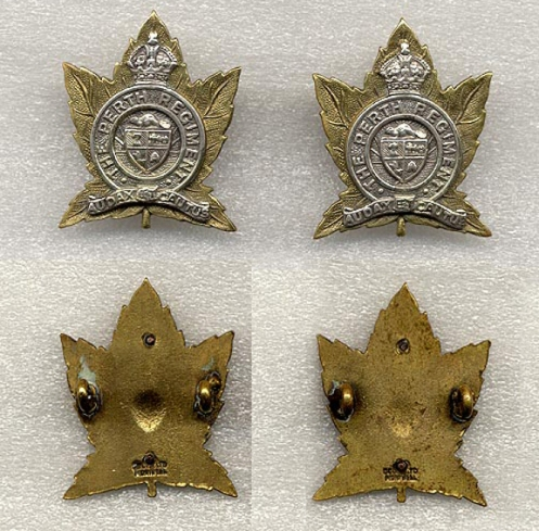 Officers' Collar badges. Solid back 2 piece silver and gilt similar in manufacture to the officers' cap badge. Lug backed