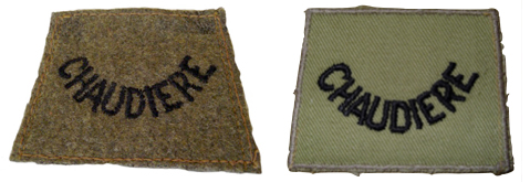 Left, Worsted Title – Author's Collection.  Right, Khaki Drill – Bill Alexander Collection