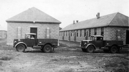 Two trucks belonging to the Princess Patricia's Canadian Light Infantry, at Camp Dundurn, Saskatchewan. Surviving records show that this regiment received two Chevrolet 15cwt GS trucks in 1938. Photo courtesy Princess Patricia's Canadian Light Infantry Museum and Archives