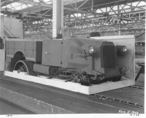 A 1940-dated Ford photo showing the 15-cwt truck in 'Knocked Down' (KD) configuration. MilArt photo archives