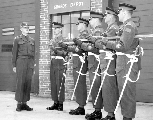 Sergeants-Major of the Canadian Guards Depot and of each of the first three battalions