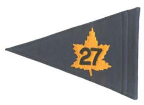 Pennant for Commander 27 Canadian Infantry Brigade in Germany, early 1950s. (Author's collection)