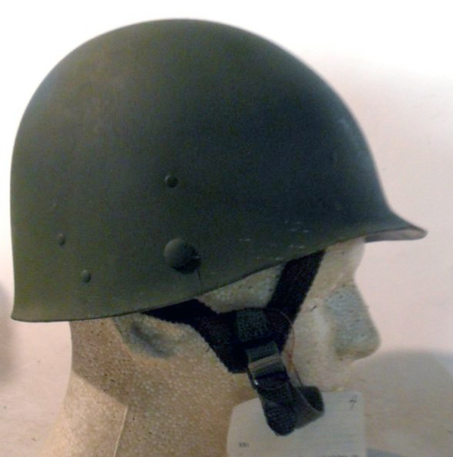 The nylon Type II Combat liner worn under the M1's steel pot