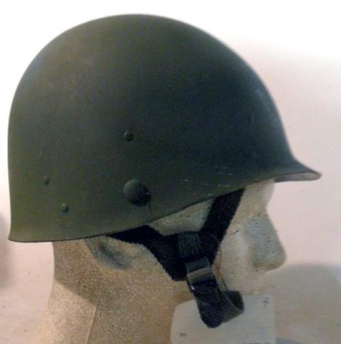 The nylon Type II Combat liner worn under the M1's steel pot