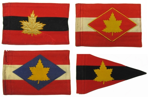 Top row, Army Commander, First Canadian Army. GOC 1 Canadian Corps. Bottom row, GOC 2 Canadian Corps, Division Commander.