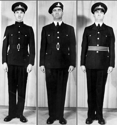 Three more propsaed uniforms. Many of these were simply variants on three basic themes - colour, collar and headdress.