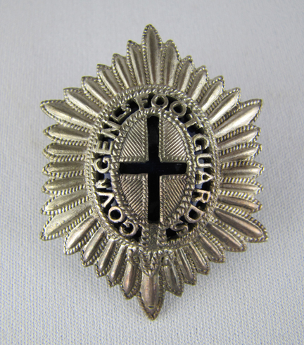 GGFG Officers' cap badge, pierced and enamelled. Author's collection
