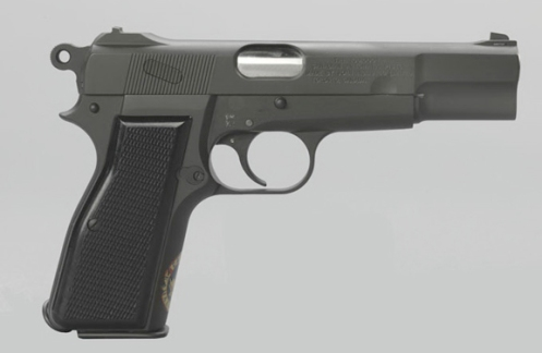 An example of an Inglis-made Browning Hi-Pwer, 9mm pistol as produced for the Canadian Army, ca. 1944. Author's collection