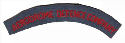 Aerodrome Defence Company title.