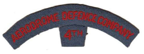 Shoulder title to the 4th Aerodrome Defence Company