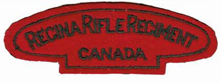 The Regina Rifle Regiment Second World War era shoulder title. The same pattern was worn by the 1st and 3rd Battalions.