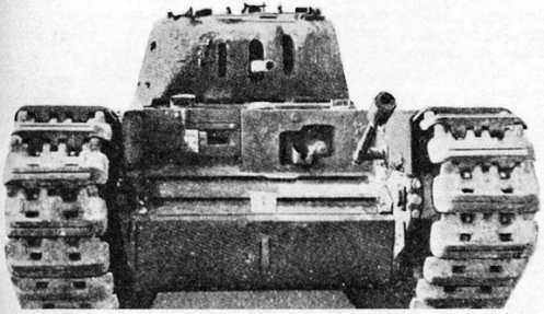 Front viw of the Oke tank. MilArt phto archives