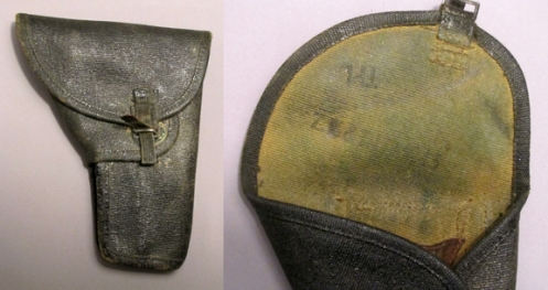 Second pattern holster with a black finish as used by Armoured and Rifle units postwar. Authro's collection