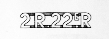One of two designs submitted to the R22eR. This one featured the battalion numeral preceding the title.