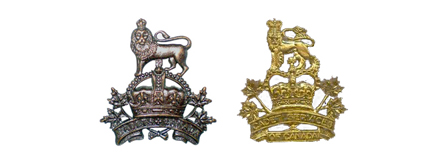 Comparison of the badge initially approved for cadets and CSCI Officers, and the badge authorized for CS of C Officers