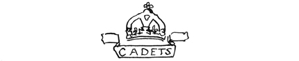"Militia & Defence drawing of the ""King's Cadet"" badge."