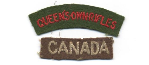 1945 British-made QOR title and Canada title – Graham Humphrey Collection
