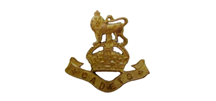 "An example of the ""King's Cadet"" badge, shown here in gilt. Image courtesy Peter Brydon."