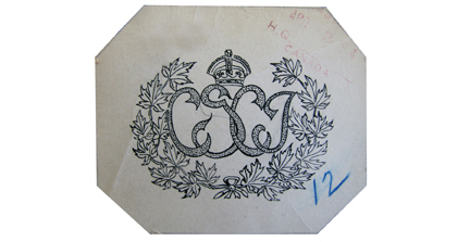 The badge designed by CSCI officers in British Columbia and approved in July 1914.