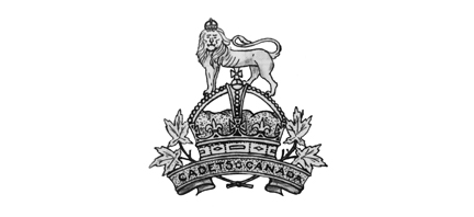 """The approved M&D drawing of the  Canadian 'King's Cadet"""" badge. It was Sam Hughes who insisted on the addition of the maple leaves."""