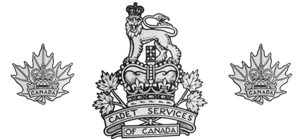 The 1956 badge showing the ST. Edwards Crown and the modern (in 1956) Maple Leaf collar badges.