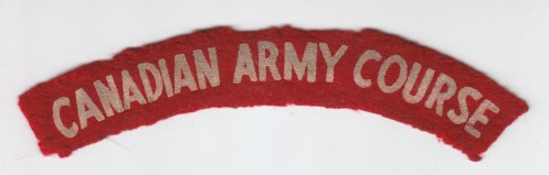 No number, flocked white on scarlet. It has been suggested that this title was worn by the instructional cadre