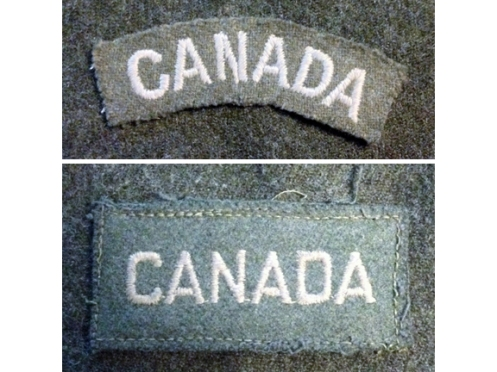 Top, Curved pattern, Canadian-made, circa 1940. Bottom, circa 1941 – Graham Humphrey Collection