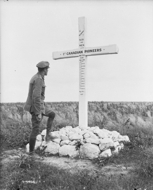Memorial to 1st Canadian Pioneers, Somme. January 1918.