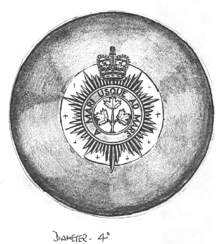 Brooch pin design proposed by Henry Potter Ltd., of London, the firm that supplied instruments to the bands, including the emblazoned regimental drums.