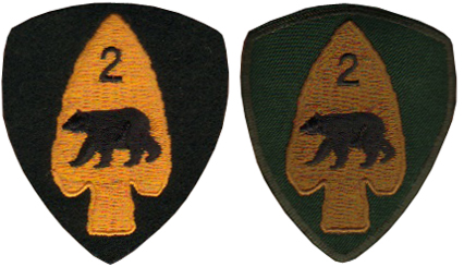 Production examples showing the DEU patch on the left and the Garrison Dress patch on the right. Courtesy Bill Alexander