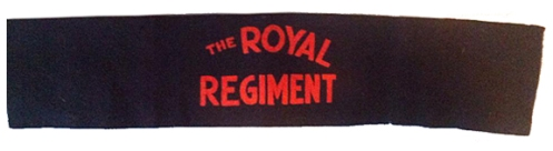 The Royal Regiment of Canada, flocked printing on felt. Courtesy Ethan Childs