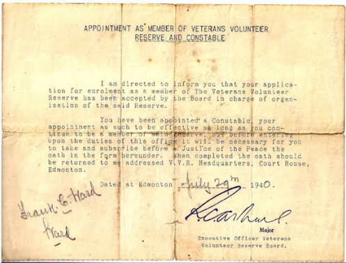 Letter of appointment to a volunteer.