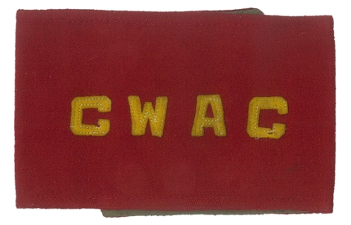 CWAC armband consisting of die-cut lettering sewn to a quality Melton wool armband with khaki lining. Courtesy the late Doug Townend