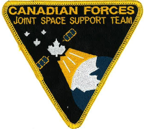 THe JSST insignia with D Space D's own directorate logo was also designed by author, in 1999, while serving at NDHQ. Author's collection