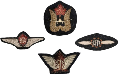 Examples of EFTS insignia. Note the the badges are not to scale in this image.
