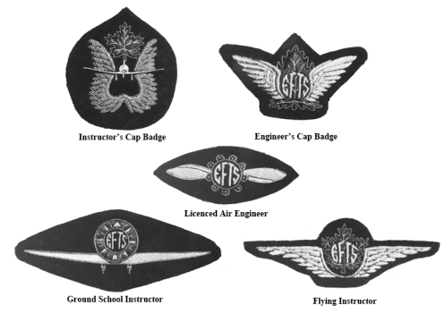 Badges available from the Canadian Flying Clubs Association to EFTS schools. MilArt photo archives