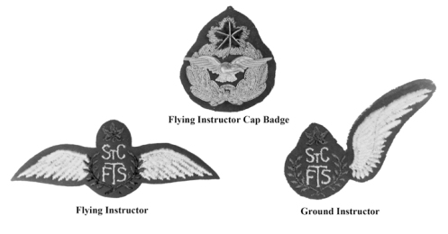 Flight staff insignia specific to the St Catharine's Flight Training School. MilArt photo archives